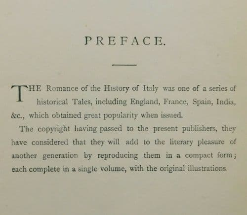 The Romance of History Italy book C Macfarlane illustrations by Landseer Chandos